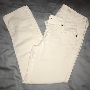 J. Crew White Crop Jeans